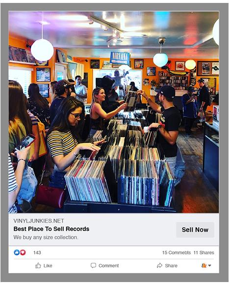 Vinyl Junkies Digital Advertising