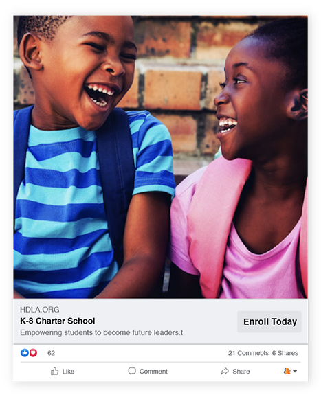 Holly Drive Leadership Academy Digital Advertising