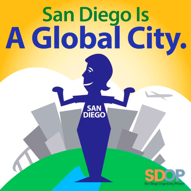 San Diego Organizing Project graphic design
