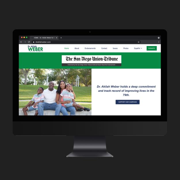 website development for Dr. Akilah Weber