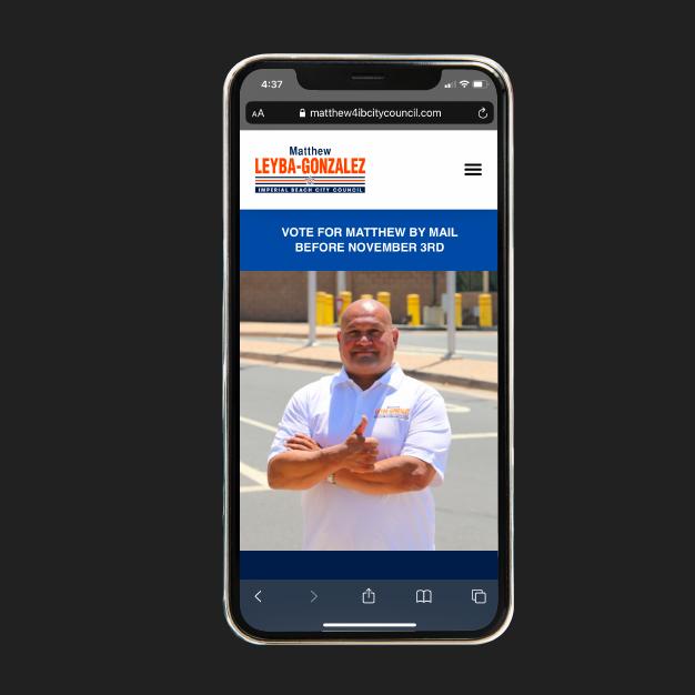 website development for Matthew Leyba-Gonzalez
