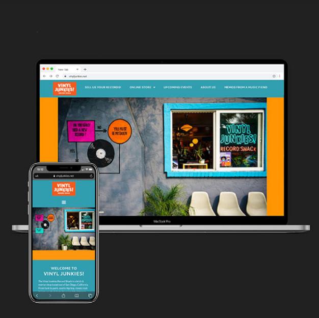 website development for Vinyl Junkies