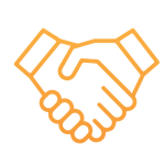 icon of two hands shaking