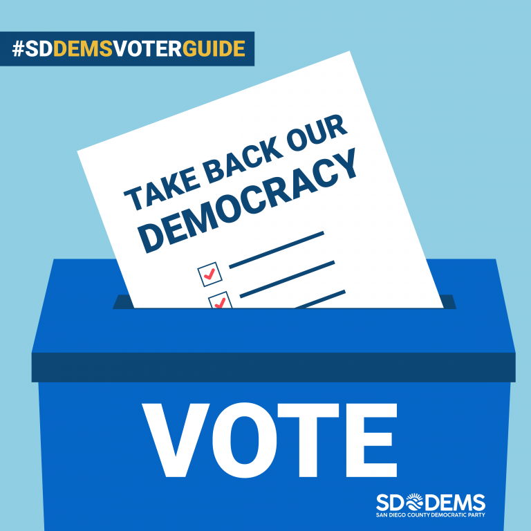 Digital advertising for San Diego County Democratic Voter Guide