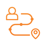 icon of a user path
