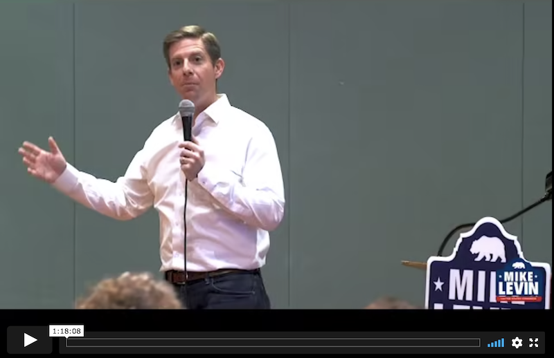 Mike Levin hybrid town hall