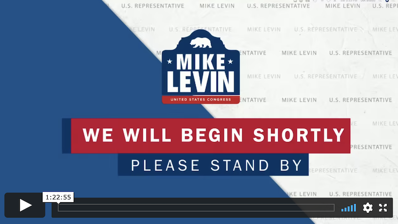 Mike Levin virtual town hall