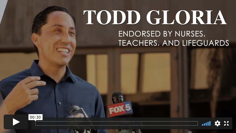 San Diego Fire Facts support Todd Gloria digital advertising